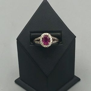 Le Vian Rose Gold Ruby And Diamond Ring